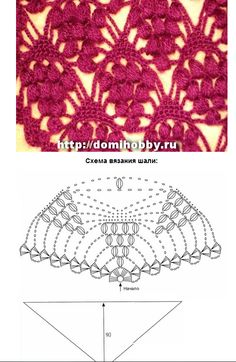 Pretty crochet stitch pattern with chart  puntada 22