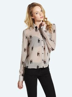 Quirky Fashion Finds Cat Blouse on PVBDaily's fashion section