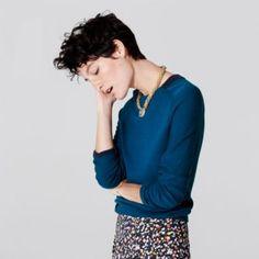KS Saturday Tipped-Collar Sweater in Merino Wool