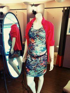 vestido justinho franzido + camisa rosa + cinto trança = cool look verão ´15