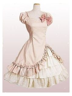 Short Sleeves Ruffle Sweet Lolita Dress