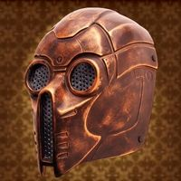 This Victorian Steampunk mask is made of fiberglass and has a metal screen over the eyes. It has been painted to look like weathered and antique bronze with adjustable straps for a perfect fit. Viking Halloween Costume, Steampunk Halloween, Halloween Masks, Jedi Costume, Steampunk Design, Victorian Steampunk, Victorian Fashion, Steampunk Armor, Steampunk Fashion