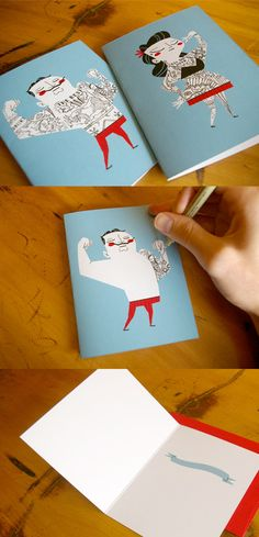 Canadian illustrator Andrew Kolb made these tattoo-it-yourself cards. http://www.kolbisneat.com/tattoo.htm