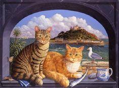 Cat portraits. Marazion Cats - Colin Birchall