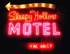 Sleepy Hollow Motel sign, Main St., Green River, Utah.   American Road magazine staff have been there (in Autumn 2005 issue)! http://americanroadmagazine.com/memorymotel.html