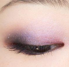 Purple and pink eye makeup look