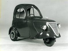 'daf 1 person city car' (1941) nicknamed 'driving raincoat'