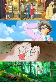 From Up on Poppy Hill, The Wind Rises, The Tale of the Princess Kaguya, When Marnie Was There <<< The last Ghibli movies, aren't they. Hayao Miyazaki, When Marnie Was There, Princess Kaguya, Fulmetal Alchemist, Studio Ghibli Art, Ghibli Movies, Walt Disney Studios, Howls Moving Castle, Film Studio