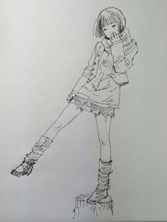 江口寿史さんのボールペンイラスト