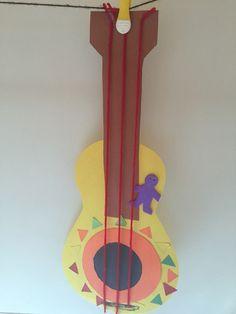 Cinco de mayo construction paper string guitar