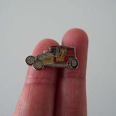 Vintage 1970's Custom Car Hot Rod Rat Rod Tie Pin Badge Street Racer by VintageBlackCatz on Etsy