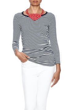 Stripe printed long sleeve top with ruched sides, and boat neckline.   Ruched Sides Top by Iris Setlakwe. Clothing - Tops - Tees & Tanks Clothing - Tops - Long Sleeve Manhattan, New York City