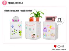 This is one of the many cc that's overdue.... Sleek n' Steel Mini Fridge recolor. You needThe Sims 4 Discover University Expansion Pack. Download: SFS / Mediafire. Enjoy!!! Sims 4 Teen, Sims Four, Sims 4 Toddler, Sims Cc, Maxis, Sims 4 Mods Clothes, Sims 4 Clothing, Sims 4 Anime, Sims 4 Kitchen