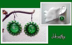 Obšívané kabošonky českým a japonským rokailem Beading, Crochet Earrings, Drop Earrings, Jewelry, Beads, Jewlery, Jewerly, Schmuck, Drop Earring