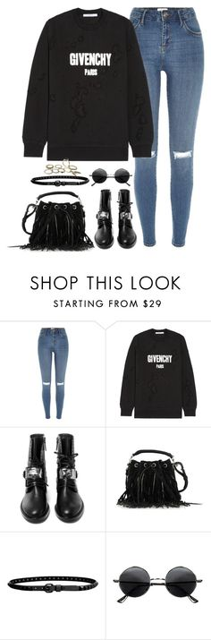 """""""Untitled#4599"""" by fashionnfacts ❤ liked on Polyvore featuring River Island, Givenchy, Casadei, Yves Saint Laurent, Linea Pelle and Retrò"""