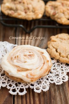 Holy DELICIOUS! Cinnamon Roll Cookies ohsweetbasil.com