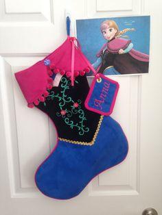 Disney's Frozen Anna stocking by LillyAnnesCloset on Etsy, $70.00