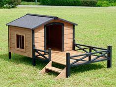 Image result for wood dog house