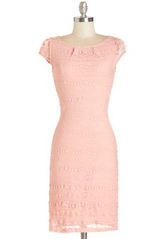 Lavishly Lovely Dress. This splendid lace sheath brings calm and charisma to your life! #pink #modcloth