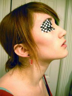 Black + White Checkerboard Eye Makeup