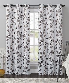 Loving this Chocolate Leaf Curtain Panel on #zulily! #zulilyfinds