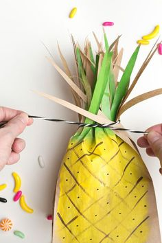 DIY Pineapple Favor Bags!  - See More Lovely Pineapple Party Ideas At B. Lovely Events!