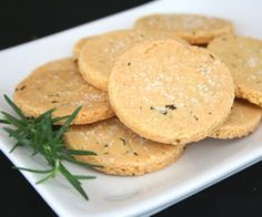 Rosemary Parmesan Shortbread (Low Carb and Gluten Free) | All Day I Dream About Food