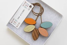 autumn sunset necklace by anna wiscombe | notonthehighstreet.com