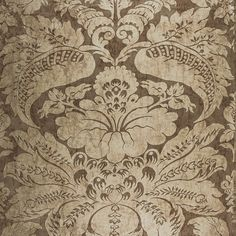 Cordwain Damask | 65870 in Mica | Schumacher Fabric