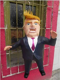 <p>Last week, photos circulated on the Web of a shop in northern Mexico that fashioned a pinata after Trump.</p>