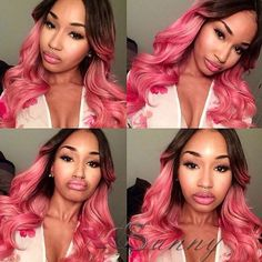 Find More Human Wigs Information about 8A Virgin Peruvian Human Hair Pink Wig…
