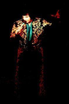 Elvis Presley Concerts, Elvis Presley Images, Spanish Flowers, Graceland, Red Flowers, Rock N Roll, Stage, Jumpsuits, King