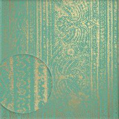 La Veneziana 2 Vliestapete Marburg Tapete VLIES Grün Gold Wanddekor Deko  53112 In Heimwerker, Farben, Tapeten U0026 Zubehör, Tapeten U0026 Zubehöu2026