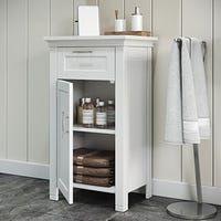 Buy Bathroom Cabinets & Storage Online at Overstock | Our Best Bathroom Furniture Deals Bathroom Standing Cabinet, Bathroom Floor Cabinets, Bathroom Flooring, Bathroom Furniture, Toilet Storage, Bathroom Storage, Bathroom Ideas, Locker Storage, Bathroom Renovations