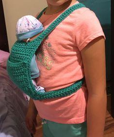 Baby doll carrier FREE crochet pattern by Crochet It Creations
