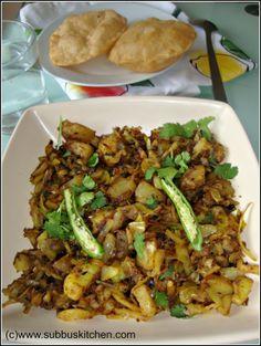 Aloo Patta Gobhi Curry - Potato Cabbage Stir Fry | Subbus Kitchen
