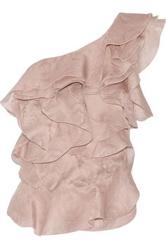 Isabel Marant Yuna une épaule froissée soie jacquard haut