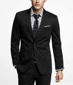 Cotton Sateen Photographer Suit Jacket - Express Men