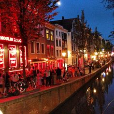 Red Light District in Amsterdam, Noord-Holland. Interesting experience for sure!