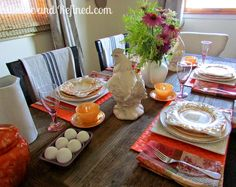 Summer Breakfast Tablescape @ Rustic-refined.com