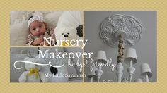 HOME DECOR: Nursery Makeover & Duvet Cover Give-a-way: http://www.athomewithnikki.com
