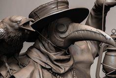 Plague doctor by Tanya Berezovskaya on ArtStation.