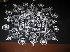 .. Rangoli Side Designs, Rangoli Designs Latest, Rangoli Borders, Small Rangoli Design, Rangoli Ideas, Rangoli Designs Diwali, Rangoli Designs Images, Kolam Rangoli, Mandala Design
