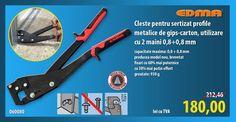 Cleste pentru sertizat profile metalice de gips-carton, utilizare cu 2 maini 0,8+0,8 mm 060080 EDMA