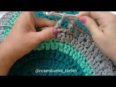 Tecendo Artes em Crochet: Tapete Oval com Fio de Malha!