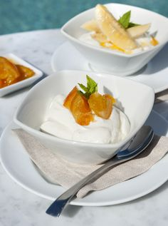 Greek yoghurt with candied orange at Grace Santorini.