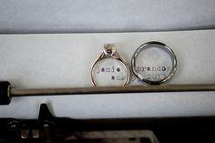 Ring Shot on an old typewriter