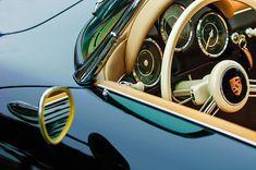 1956 Porsche 356 A Speedster Steering Wheel Emblem - Car photographs  by Jill Reger