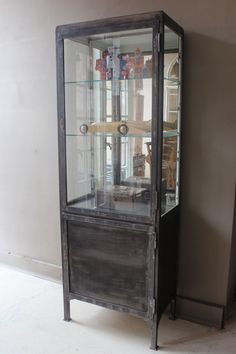 French Tall Medicine Cabinet