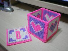 Box / Hama perler beads  / Bügelperlen